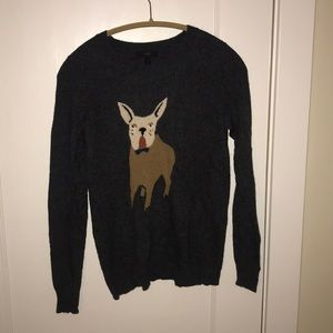 J Crew Dog Sweater